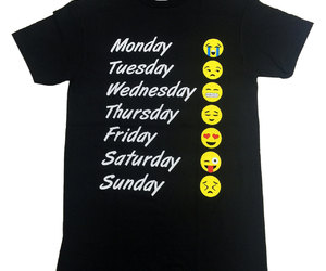 etsy, emoji t shirt, and emoji weekday tee image