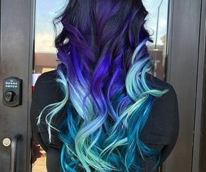 elegant, hairstyle, and ombre image