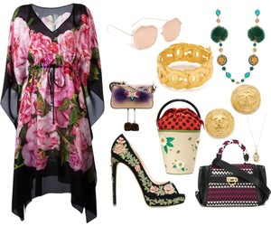 fashion, floral, and look image
