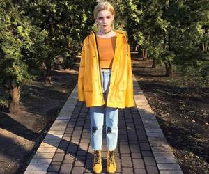 fashion, yellow, and 90's image