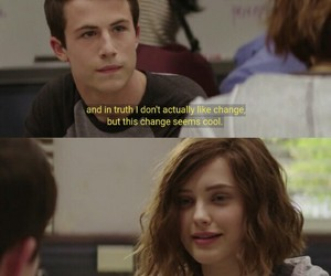 clay, katherine, and thirteen reasons why image