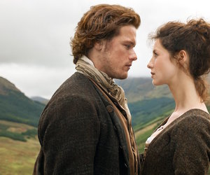 outlander, jamie fraser, and caitriona balfe image