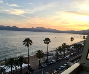 beach, sea, and cannes image