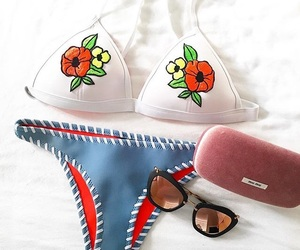 accessories, flower, and swimsuit image
