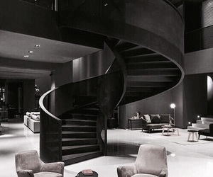 home, black, and house image