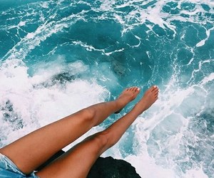 summer, beach, and blue image