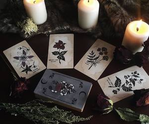 candles, goth, and witch image