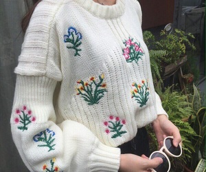 pullover flowers cute image
