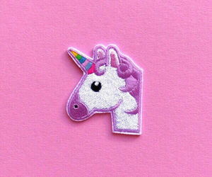 patches, unicorn, and emoji image