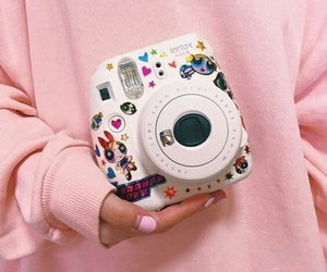 pink, camera, and aesthetic image