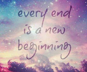 end, quote, and beginning image