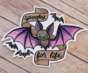 kawaii, patches, and bat image