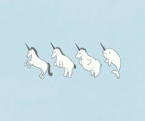 unicorn, kawaii, and pastel image