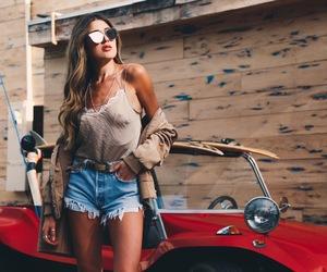 fashion, brunette, and model image