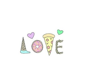 overlay, pizza, and donuts image