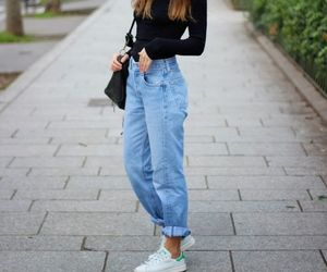 jeans, black, and fashion image