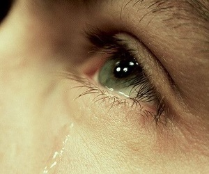 boy, crying, and eye image