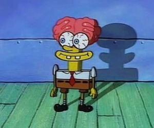 spongebob, sponge bob, and brain image