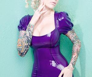 blonde, Pin Up, and tattoo image