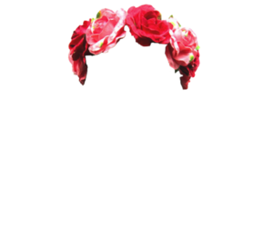 flower crown and transparent image