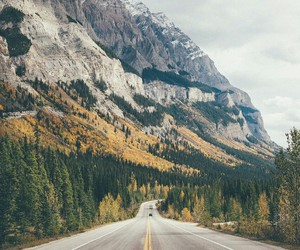 background, hill, and road image