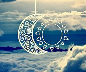 sun, moon, and sky image