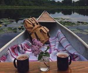 boat, picnic, and rest image