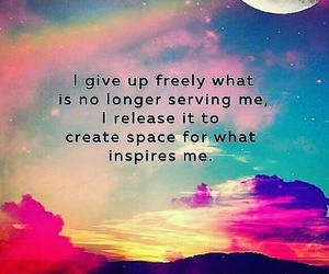 affirmation, letting go, and past image