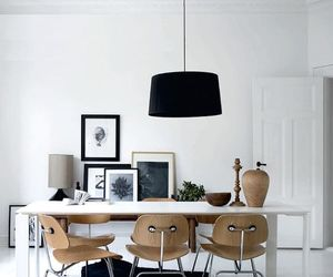 interior, black, and home image