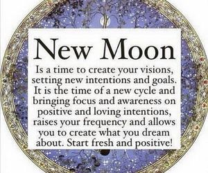 new moon, visions, and new cycle image