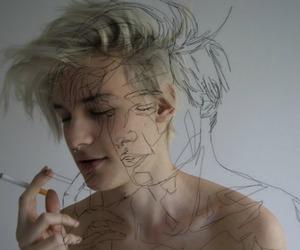boy, grunge, and art image