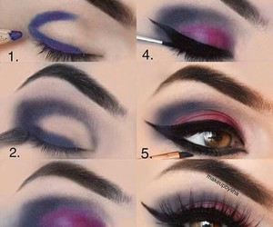make up, maquillaje, and sombras image