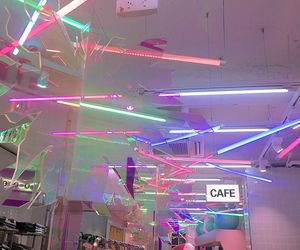 neon, cafe, and aesthetic image