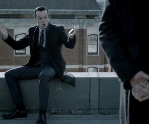 funny, sherlock, and andrew scott image