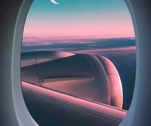 moon, travel, and sky image