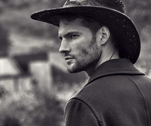 black and white, boys, and cowboy image