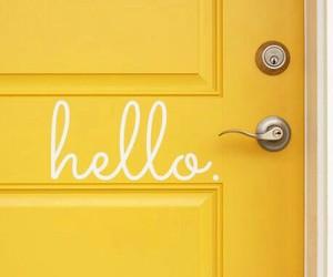 yellow, door, and hello image