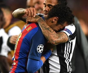 dani alves, Juventus, and neymar image