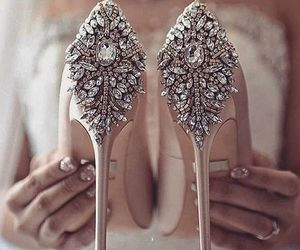 bride, lace, and wedding image
