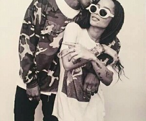 asap rocky, zoe kravitz, and couple image