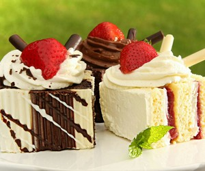 cake, delicious, and strawberries image