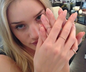 model, nails, and rings image