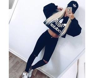 adidas, style, and black image