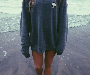 beach, grunge, and alien image