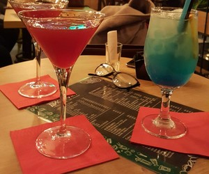 blue, cosmopolitan, and drinks image