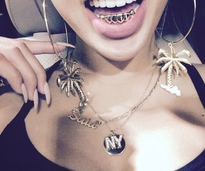 gold, grill, and nails image