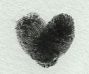 love, heart, and fingerprint image
