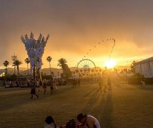 coachella, music, and sun image