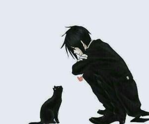 anime, kuroshitsuji, and cat image