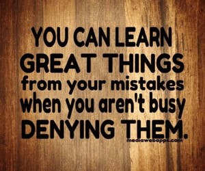 learn, mistakes, and quote image